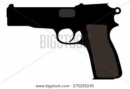 Browning Belgian Gun Vector Silhouette