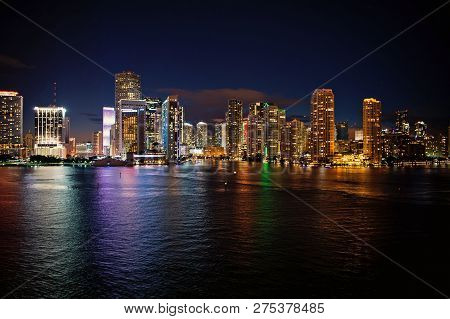 Miami Skyline Skyscrapers At The