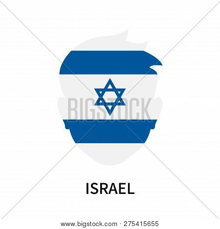 Israel Icon Isolated On White