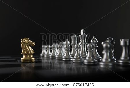 Chess knight Confront Opponent Or