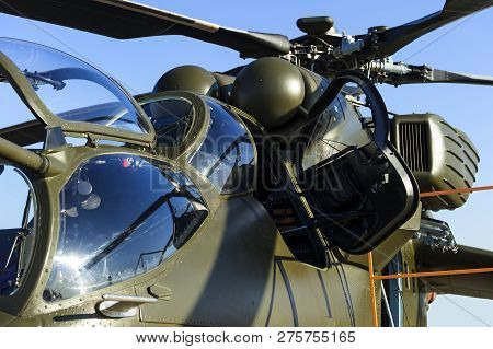 Military Helicopter With Open Door