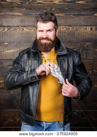 Man Brutal Bearded Hipster Wear