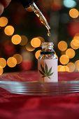Honey Oil. Christmas Gift of Marijuana Honey Oil. Gift for Santa Claus. Hash oil. Marijuana concentr poster
