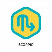 Scorpio Icon Isolated On White Background. Scorpio Icon Simple Sign. Scorpio Icon Trendy And Modern  poster