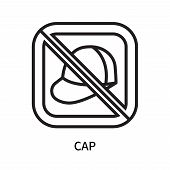 Cap Icon Isolated On White Background. Cap Icon Simple Sign. Cap Icon Trendy And Modern Symbol For G poster