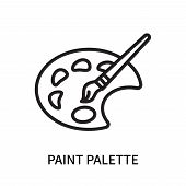 Paint Palette Icon Isolated On White Background. Paint Palette Icon Simple Sign. Paint Palette Icon  poster