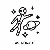 Astronaut Icon Isolated On White Background. Astronaut Icon Simple Sign. Astronaut Icon Trendy And M poster
