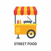 Street Food Icon Isolated On White Background. Street Food Icon Simple Sign. Street Food Icon Trendy poster