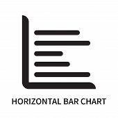 Horizontal Bar Chart Icon Isolated On White Background. Horizontal Bar Chart Icon Simple Sign. Horiz poster