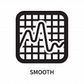 Smooth Icon Isolated On White Background. Smooth Icon Simple Sign. Smooth Icon Trendy And Modern Sym poster
