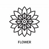 Flower Icon Isolated On White Background. Flower Icon Simple Sign. Flower Icon Trendy And Modern Sym poster