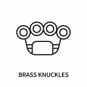 Brass Knuckles Icon Isolated On White Background. Brass Knuckles Icon Simple Sign. Brass Knuckles Ic poster