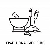 Traditional Medicine Icon Isolated On White Background. Traditional Medicine Icon Simple Sign. Tradi poster