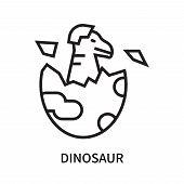 Dinosaur Icon Isolated On White Background. Dinosaur Icon Simple Sign. Dinosaur Icon Trendy And Mode poster