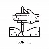 Bonfire Icon Isolated On White Background. Bonfire Icon Simple Sign. Bonfire Icon Trendy And Modern  poster