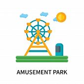 Amusement Park Icon Isolated On White Background. Amusement Park Icon Simple Sign. Amusement Park Ic poster