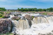 Falls Park Along The Big Sioux River In Sioux Falls South Dakota poster