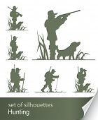 silhouette of hunter vector illustration isolated on white background