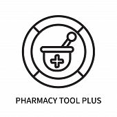 Pharmacy Tool Plus Icon Isolated On White Background. Pharmacy Tool Plus Icon Simple Sign. Pharmacy  poster