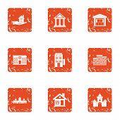 Safe Creation Icons Set. Grunge Set Of 9 Safe Creation Icons For Web Isolated On White Background poster