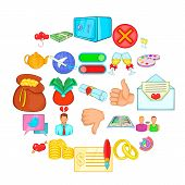 Choice Icons Set. Cartoon Set Of 25 Choice Icons For Web Isolated On White Background poster