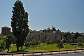 foto of constantinople  - Ruins of the old Constantinople castle Istanbul - JPG