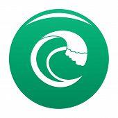 Wave Aqua Icon. Simple Illustration Of Wave Aqua Icon For Any Design Green poster