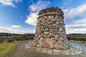 Memorial Cairn Commemorating The Lives Lost On Culloden Battlefield, Scotland, On 16 April 1746. poster