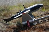 army uav remote controlled plane ready to be launched