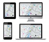 Isolated gadgets with street map