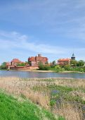 image of polonia  - View over the Nogat River to Malbork Castle - JPG