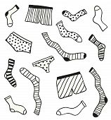 picture of brothel  - Hand drawn doodle underwear elements - JPG