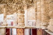 picture of masada  - Details at Herod palace at Masada Israel - JPG