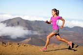 picture of country girl  - Female running athlete - JPG