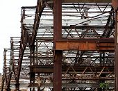 Metal Structure Of A Deserted Factory