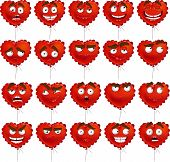 Red Valentine Balloon Smiles Set