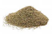 stock photo of origanum majorana  - Pile of Dried Thyme Isolated on White Background - JPG