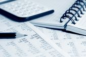 picture of close-up  - Close up of fnancial balance and accounting - JPG