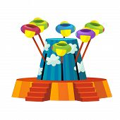 picture of funfair  - Beautiful and colorful illustration of funfair elements - JPG