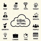 pic of goal setting  - Smart goal setting concept - JPG