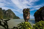 pic of james bond island  - Ko Tapu or Nail Island just off James Bond Island in Phang Nga Bay - JPG
