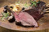 image of deer meat  - venison carree - JPG