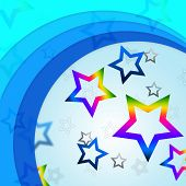 pic of curvy  - Star Curves Background Showing Curvy Lines And Rainbow Stars - JPG