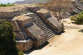 stock photo of mayan  - Mexico Mayan city ruins in Monte Alban near Oaxaca city - JPG