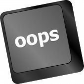 stock photo of oops  - The word oops on a computer keyboard - JPG