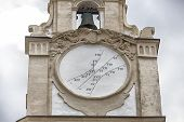 stock photo of sundial  - sundial on the clock tower of the Cathedral Basilica of St - JPG