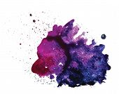 Постер, плакат: Vector watercolor stain isolated on white