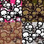 stock photo of camo  - Skulls camo pattern for you backgrounds - JPG