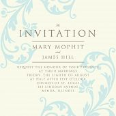 foto of damask  - Invitation with a rich background in Renaissance style - JPG