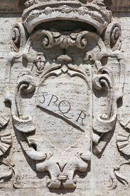 pic of spqr  - Rome Italy - JPG